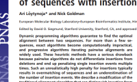 Publication: An algorithm for progressive multiple alignment of sequences with insertions