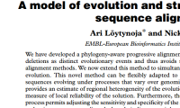 Publication:  A model of evolution and structure for multiple sequence alignment