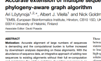Publication: Accurate extension of multiple sequence alignments using a phylogeny-aware graph algorithm